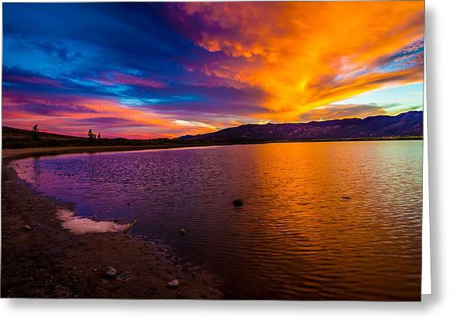 Highways Greeting Cards - Washoe Lake Nevada Sunset Greeting Card by Scott McGuire