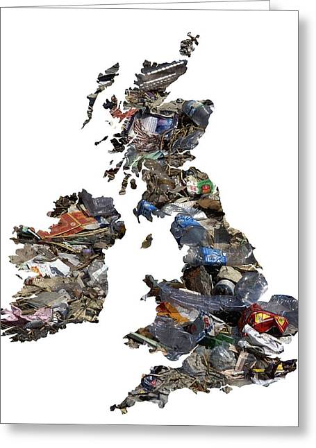 Industrial Concept Greeting Cards - Waste Control In The Uk And Ireland Greeting Card by Victor De Schwanberg