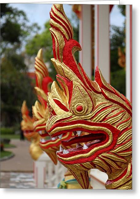 Wat Chalong 3 Greeting Card by Metro DC Photography