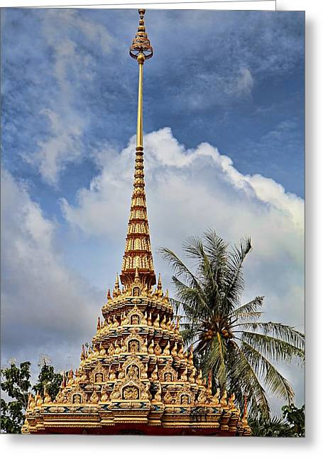Wat Chalong 5 Greeting Card by Metro DC Photography