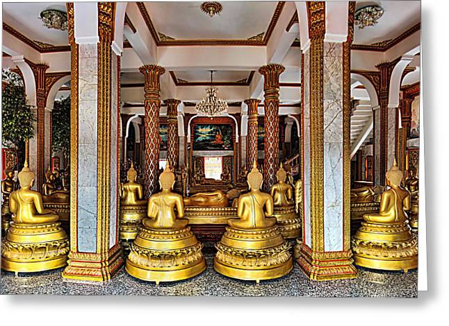 Wat Chalong Greeting Card by Metro DC Photography