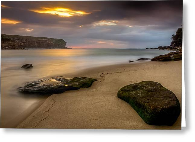 Seascape With Clouds Greeting Cards - Watamolla Dreamtime Greeting Card by Mark Lucey
