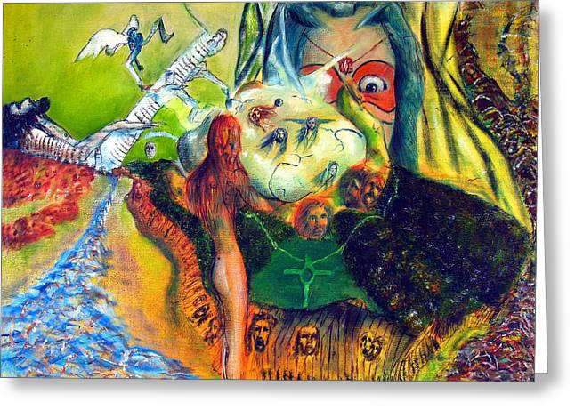 Surrealism Greeting Cards - Watcher Of The Skies Greeting Card by Albert Puskaric