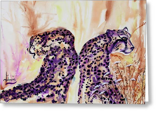 Preditor Greeting Cards - Watchful Eyes Greeting Card by Larry  Johnson