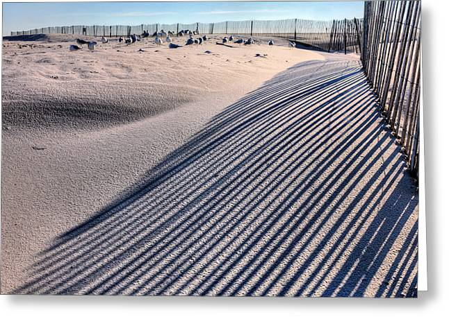 York Beach Greeting Cards - Watching Shadows Greeting Card by JC Findley