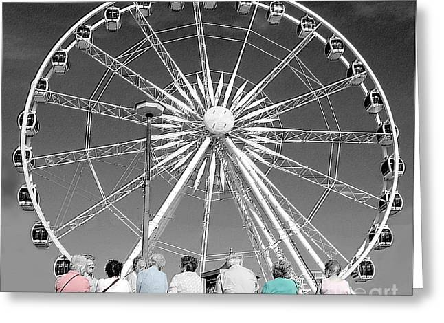 Pensioners Greeting Cards - Watching the wheel Greeting Card by Rob Hawkins