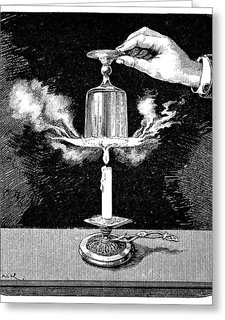 Cardboard Greeting Cards - Water Boiling Experiment, 19th Century Greeting Card by
