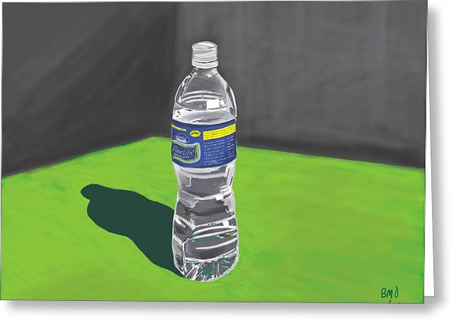Plastic Bottle Greeting Cards - Water Bottle Greeting Card by Bryan Ory