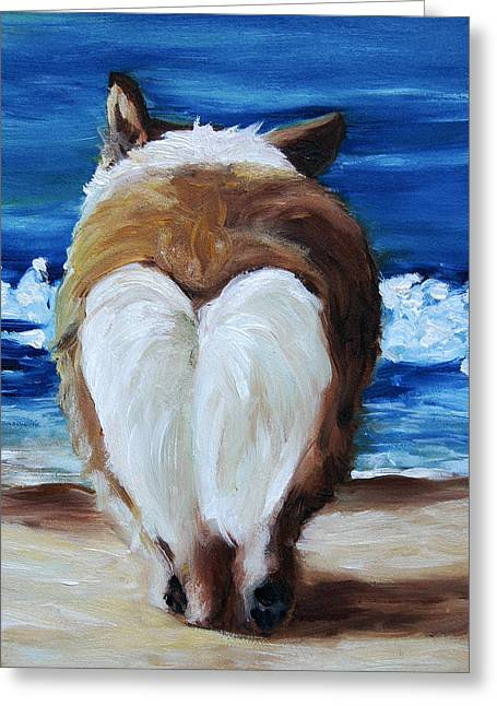 Sea Dog Framed Prints Greeting Cards - Water Bound Greeting Card by Mary Sparrow