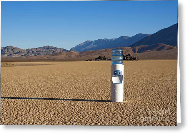 Water Cooler In Desert Greeting Card by David Buffington