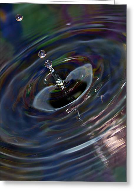 Drops Greeting Cards - Water Drop No.15 Greeting Card by Nadya Ost