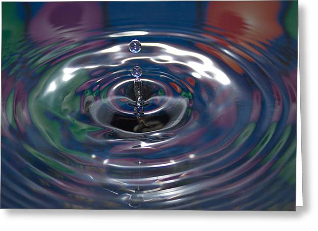Droplets Greeting Cards - Water Drop No.16 Greeting Card by Nadya Ost