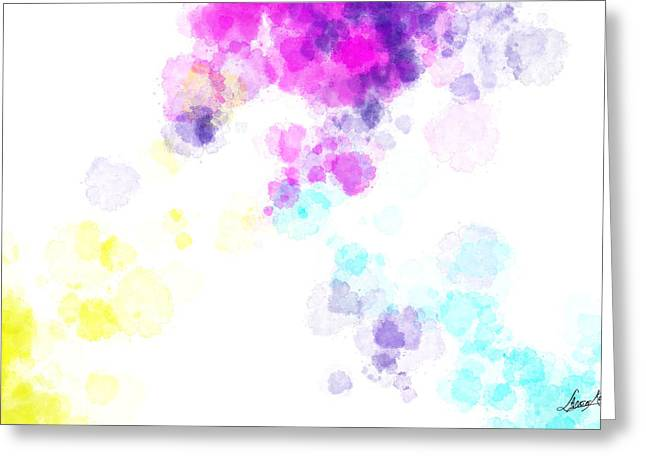 Digital Glass Greeting Cards - Water Drops Greeting Card by Lance  Kelly
