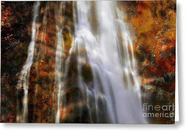 Digital Manipulation Art Greeting Cards - Water Flow Greeting Card by Keith Kapple