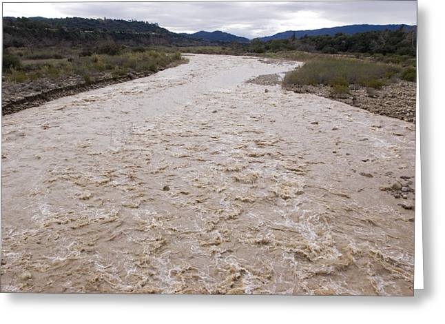Floods Greeting Cards - Water Flowing After Record-setting Greeting Card by Rich Reid