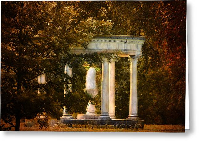 Water Fountain Greeting Card by Jai Johnson