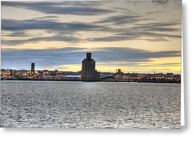 Village By The Sea Greeting Cards - Water Front Liverpool Greeting Card by Barry R Jones Jr