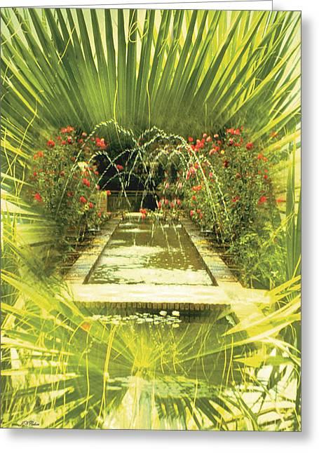 John Neville Cohen Greeting Cards - Water Garden Card Greeting Card by John Neville Cohen
