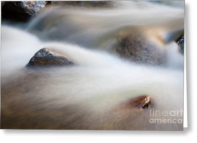 Water In The Move Greeting Card by Olivier Steiner