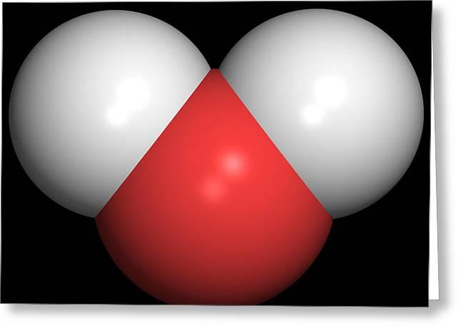 Water Molecule Greeting Card by Friedrich Saurer