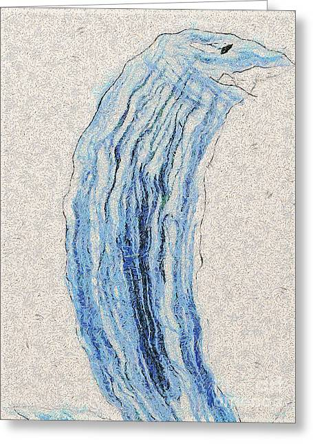Homework Paintings Greeting Cards - Water monster Greeting Card by Odon Czintos