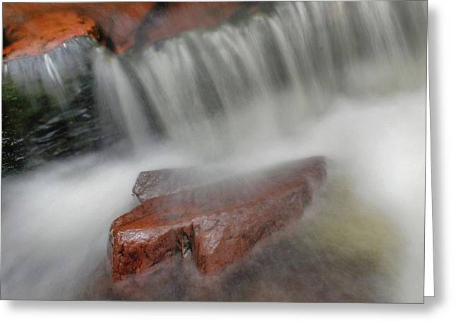Water Movement Greeting Cards - Water Movement Detail 14 Greeting Card by Stephen  Vecchiotti