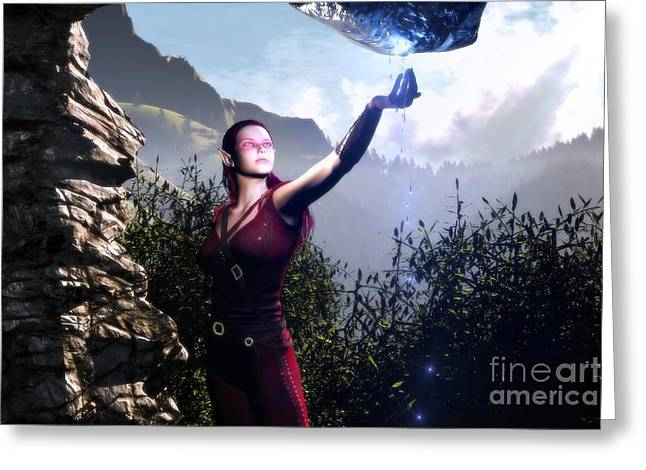 Arwen Greeting Cards - Water Of The Life Greeting Card by Gabriel Forgottenangel
