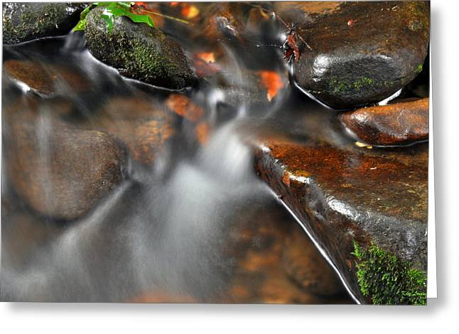Kay Lovingood Greeting Cards - Water Over Rocks Greeting Card by Kay Lovingood