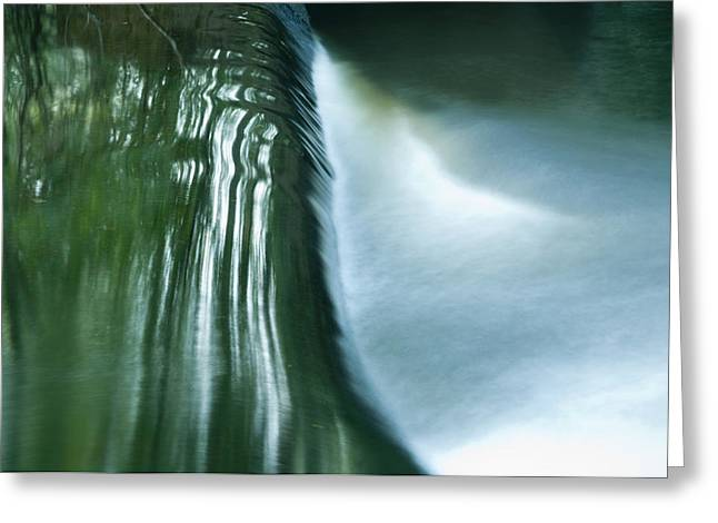 Water Flowing Greeting Cards - Water over the Dam Greeting Card by Steven Natanson