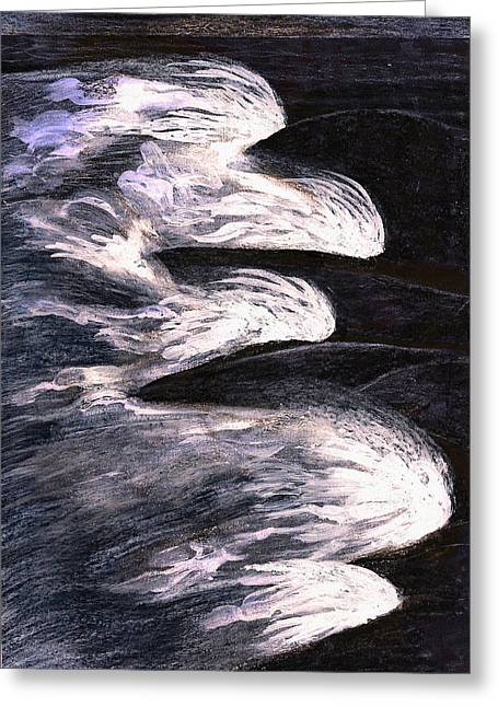 Enjoying Life Mixed Media Greeting Cards - Sandbridge Beach At Night Greeting Card by Al Goldfarb