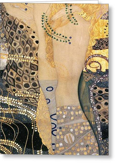Expressionist Greeting Cards - Water Serpents I Greeting Card by Gustav klimt