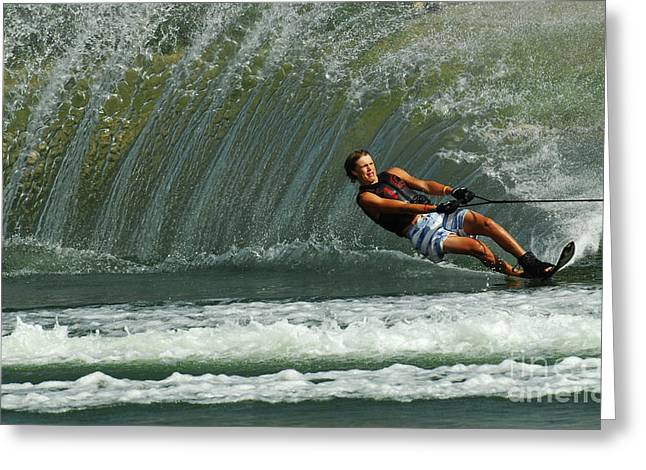 Water Skiing Magic of Water 1 Greeting Card by Bob Christopher