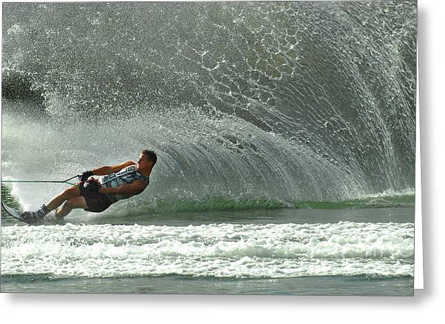 Water Skiing Magic of Water 7 Greeting Card by Bob Christopher