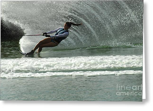 Water Skiing Magic of Water 9 Greeting Card by Bob Christopher