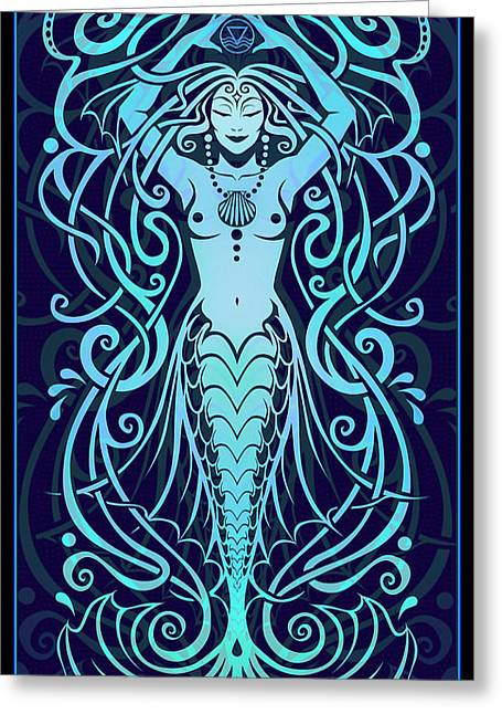 Goddess Greeting Cards - Water Spirit Greeting Card by Cristina McAllister