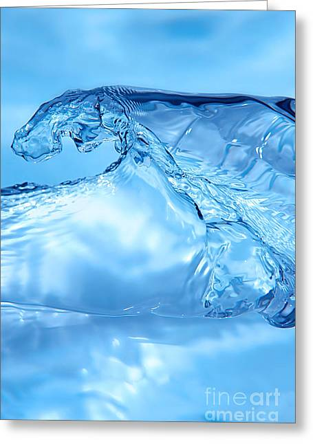 Impacting Greeting Cards - Water Splash Greeting Card by HD Connelly