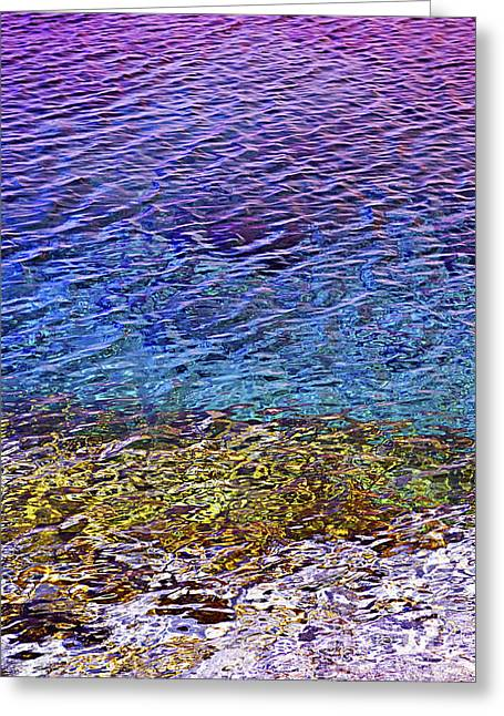 Georgian Bay Greeting Cards - Water surface  Greeting Card by Elena Elisseeva