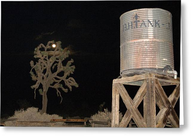 Angeles Forest Greeting Cards - Water Tank Greeting Card by Gilbert Artiaga