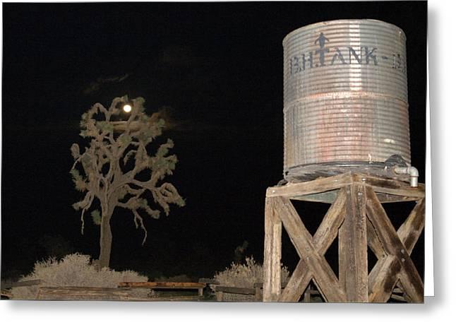 The B.h.water Tank Greeting Card by Gilbert Artiaga