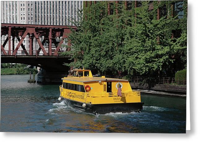 Water Taxi Greeting Cards - Water taxi Greeting Card by D Plinth