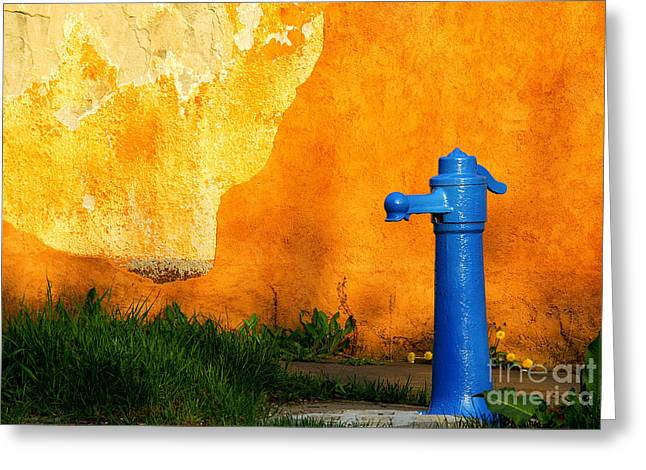 Water Well Greeting Card by Odon Czintos