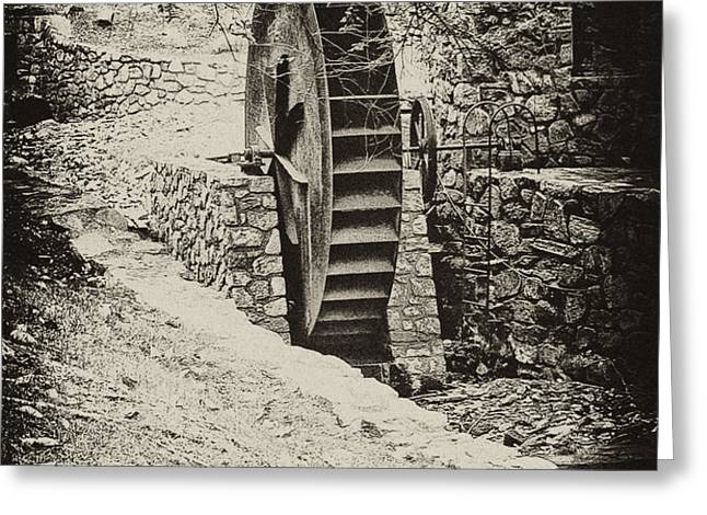 Water Wheel Greeting Card by Bill Cannon