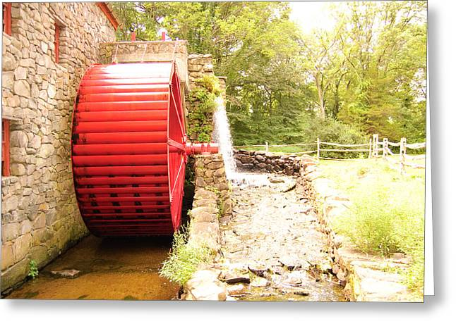 Grist Mill Greeting Cards - Water Wheel Greeting Card by Stephanie Nugent