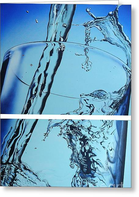 Water2heal Greeting Card by Rob Courtenay