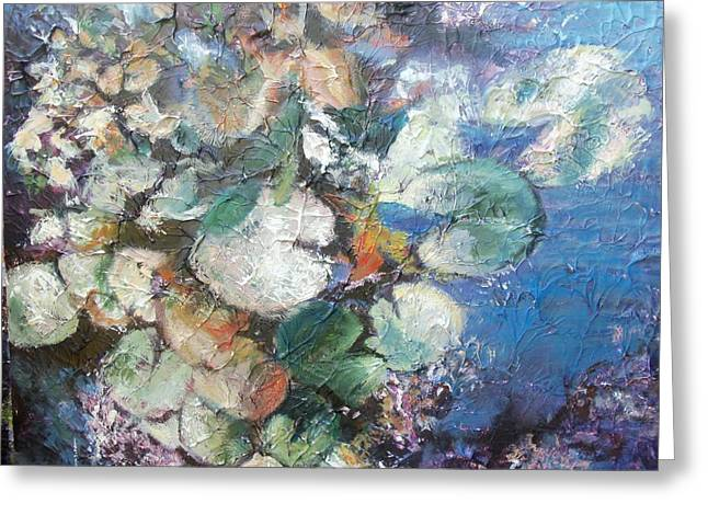 Lilly Pads Greeting Cards - Waterbabies Greeting Card by Sheila Holland