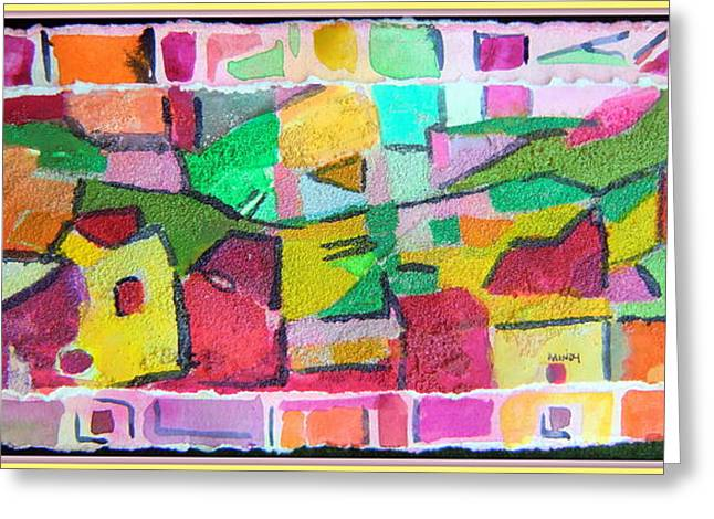 Recently Sold -  - Improvisation Greeting Cards - Watercolor Jazz Greeting Card by Mindy Newman