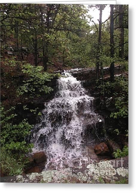 Mt Magazine Greeting Cards - Waterfall at Mt. Magazine Greeting Card by Steve Grisham