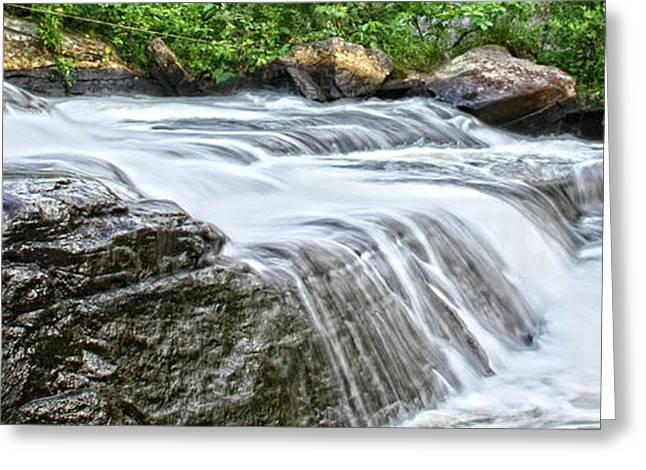 Waterfall Greeting Card by Photography Art