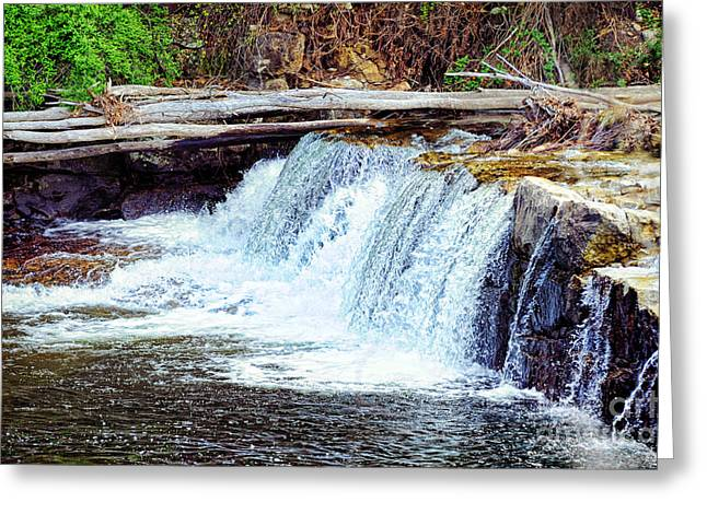 Florence Greeting Cards - Waterfall Greeting Card by HD Connelly