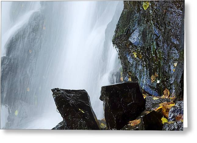 Waterfall In Auvergne Greeting Card by Bernard Jaubert